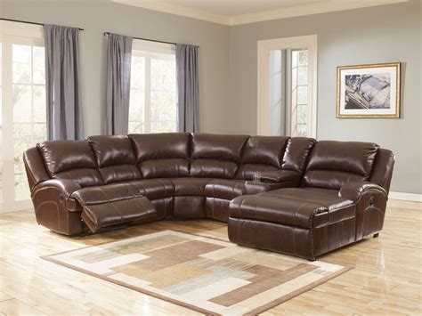 brown reclining sectional curved dark brown leather reclining sectional with chaise