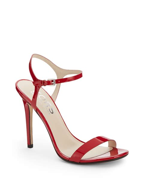 michael kors patent leather sandals kors by michael kors mikaela patent leather ankle