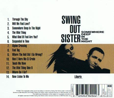 swing out sister somewhere deep in the night swing out sister somewhere deep in the night 01