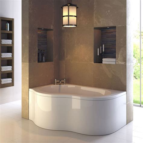 corner baths with shower ultra estuary corner bath with panel legset left at plumbing uk