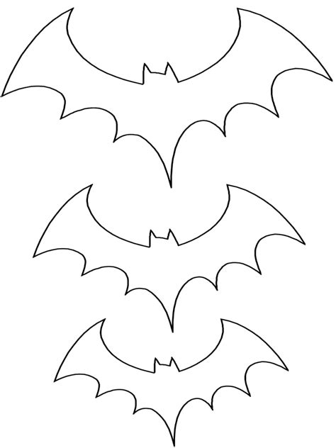 printable bat stationary traceable bat shape for card decorations trace in