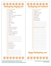 Thanksgiving Grocery List Template Gallery For Gt Thanksgiving Shopping List Printable