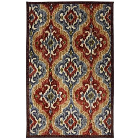 Mohawk Throw Rugs by Mohawk Home 174 Primary Ikat 5x8 Area Rug 283810 Rugs At Sportsman S Guide