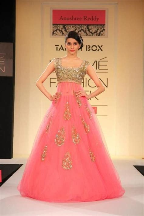 Latest Indian Pink Flowing Gown Collection   Fashion & Trend