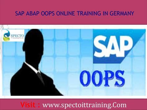 oops abap tutorial sap technical sap abap oops online training in germany