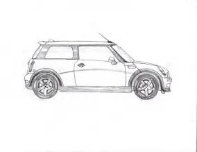 Mini Cooper Drawing Mini Cooper By Reudark On Deviantart