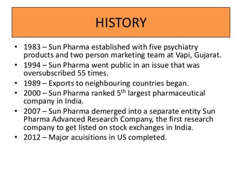 Mba In Pharmaceutical Companies In India by Sun Pharma Ppt