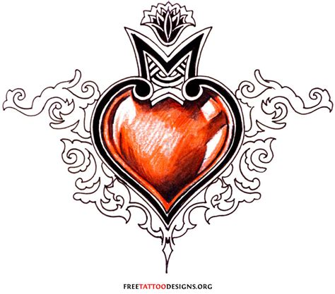 heart tribal tattoo designs flowers tattoos design tattoos design