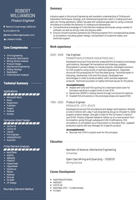 Usa Resume by Estados Unidos Cv