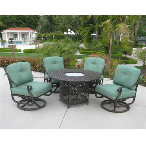 firepit table set kingston swivel club chair and pit table set