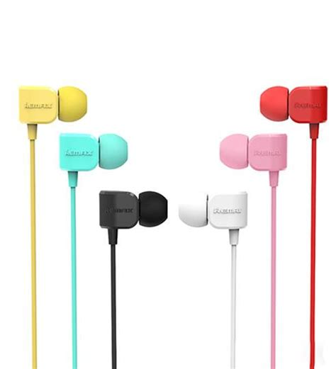 Remax Wired Earphone 505 Yellow remax official store headphone rm 502 robot