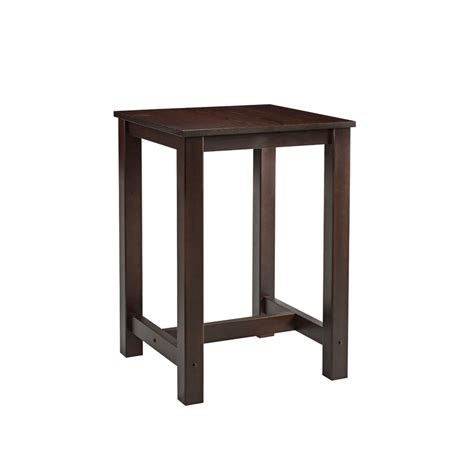 Square Bar Table Mist Square Bar Table Za 195ct Walnut Zap Trading