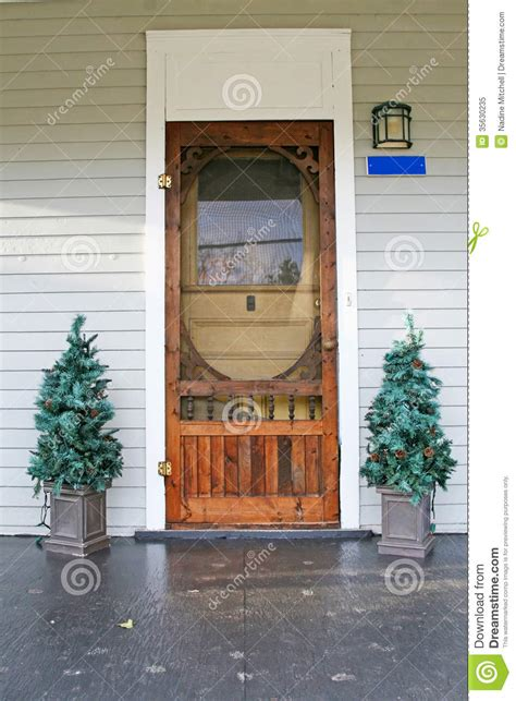 Country Door Credit by Country Door With 2 Trees On Each Side Royalty Free Stock Photo Image 35630235