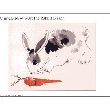 new year rabbit description new year rabbit gift lessons supply