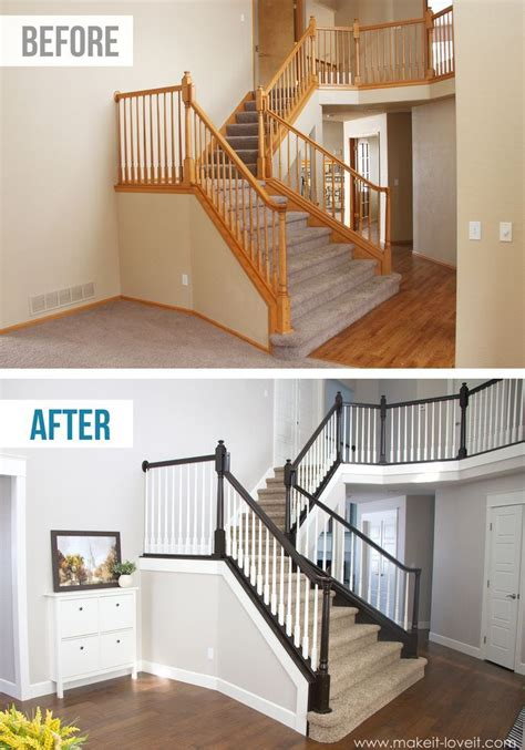 how to paint banister diy how to stain and paint an oak banister spindles and