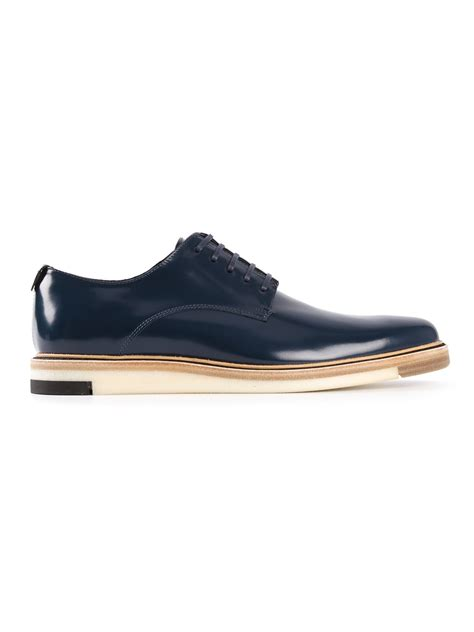 fendi shoes lyst fendi derby shoes in blue for