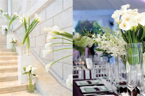 Modern Wedding Calla Lily Centerpieces Elizabeth Anne Calla Lilies Centerpieces For Weddings