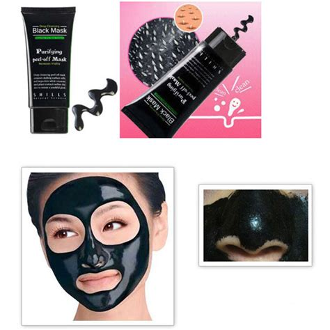Review Masker Wajah shills masker wajah black acne pulling mask 50ml