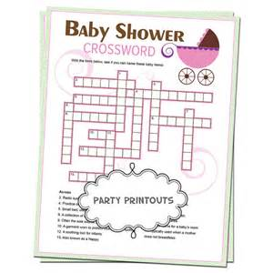 baby shower crossword puzzle unique custom by