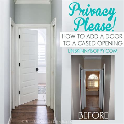 privacy please how to add a door to a cased opening