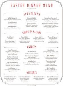 easter dinner menu 2016 shadows on the hudson