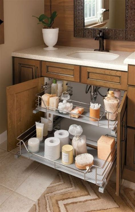 under bathroom sink shelf diy clever storage ideas 15 bathroom organization and