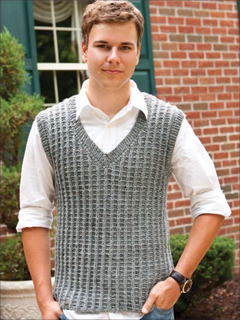 knitting pattern men s sweater vest free vest knitting patterns men s ladder rib vest