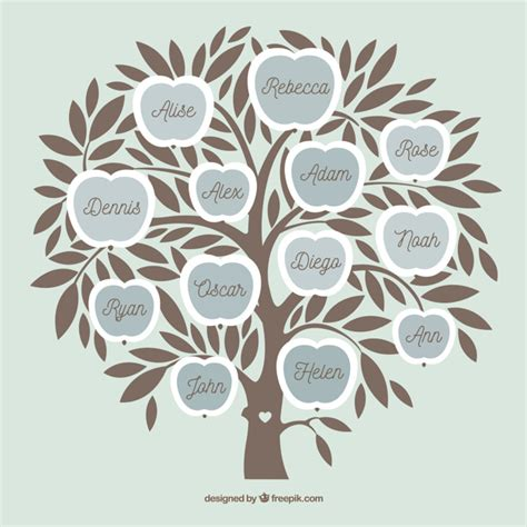 Photo Collage Template With Flat Tree Vector Free Download Tree Photo Collage Template