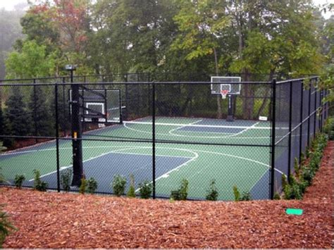 backyard basketball hoop full outdoor court traditional landscape other metro