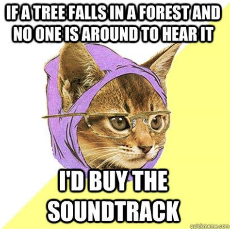 Hipster Kitty Meme - i liked the book before the movie poster became the cover