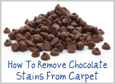 how to remove chocolate stains from carpet