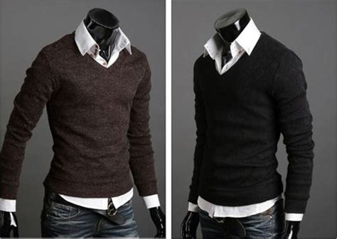 fashion slim casual mens sweaters mens cashmere sweater
