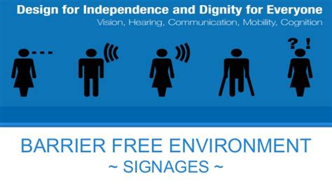 guidelines for design for environment signages barrier free environmment