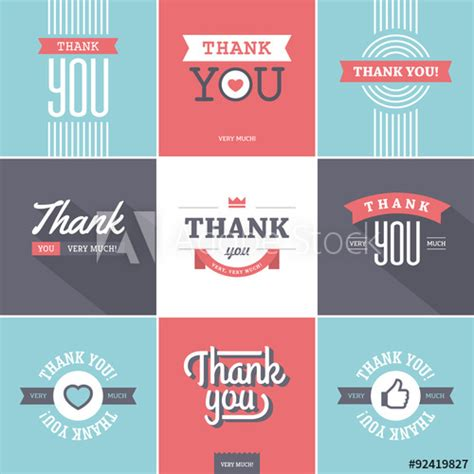 Thank You Card Template Adobe Illustrator by Colorful Thank You Cards Buy This Stock Vector And