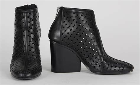 Hermes Perforated Sandal 1021 19 Pair Of Hermes Perforated Leather Ankle Boots