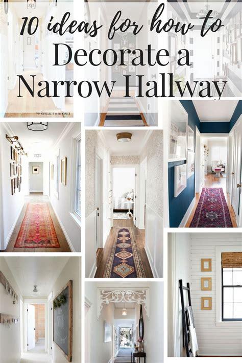 narrow hallway decorating ideas  pinterest