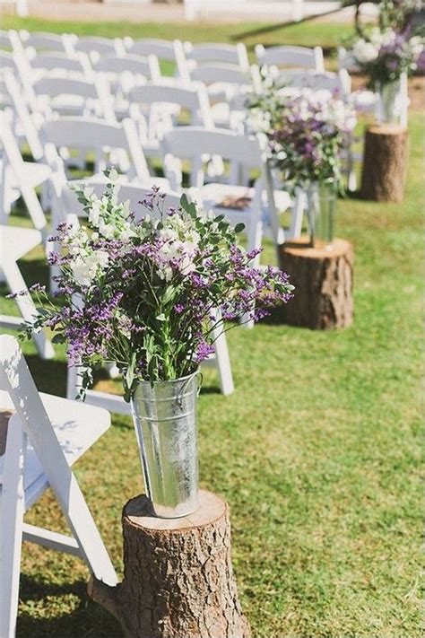 Wedding Ceremony Adalah rustic purple wedding ceremony aisle decor www