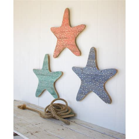Wood Starfish Wall Decor by Wall Plaque