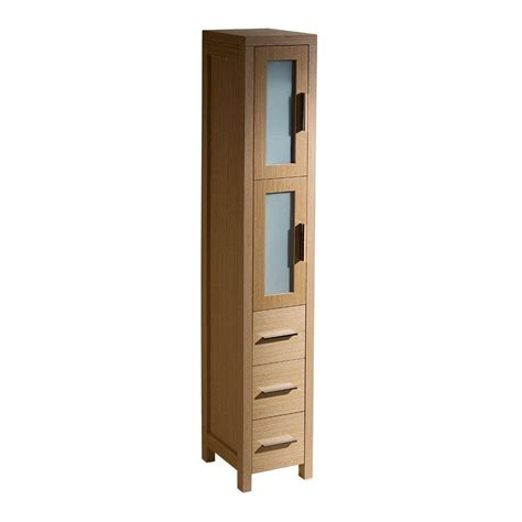 Linen Storage Cabinet Fresca Torino 12 In W X 68 13 100 In H X 15 In D Bathroom Linen Storage Tower Cabinet In