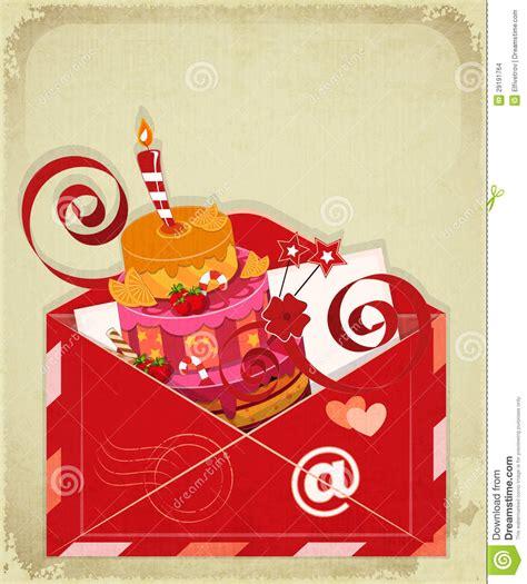 imagenes de cumpleaños vintage tarjeta de cumplea 241 os del vintage con la torta de la baya