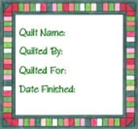 printable quilt labels patterns free printable quilt labels