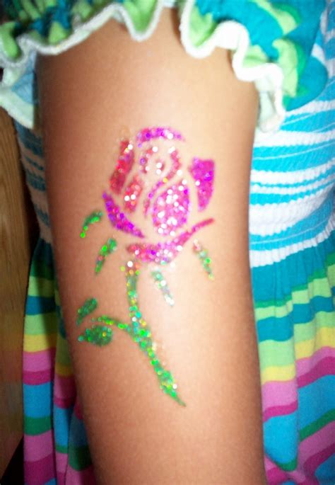 pinterest temporary tattoo temporary glitter tattoo quot rosa quot by animagias