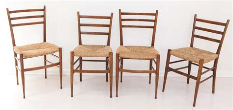 Classic Italian Dining Room Furniture Set Of Four Vintage Italian Dining Chairs With Seats At 1stdibs