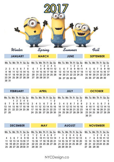 Calendã Vacinaã ã O 2017 New York Web Design Studio New York Ny Minions Calendar
