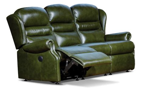 3 seater settees ashford standard leather reclining 3 seater settee