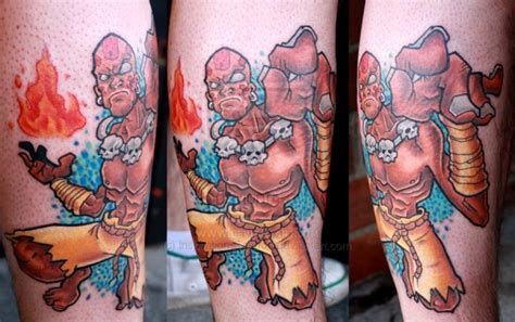 street fighter tattoo dhalsin fighter tattoos