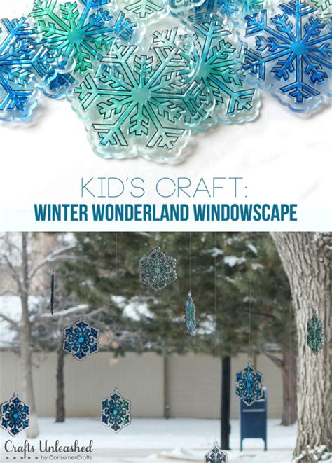 Diy Winter by Diy Winter Windowscape Kid S Craft Crafts Unleashed