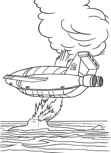 Coloring Pages Thunderbirds | thunderbirds coloring pages coloringpages1001 com