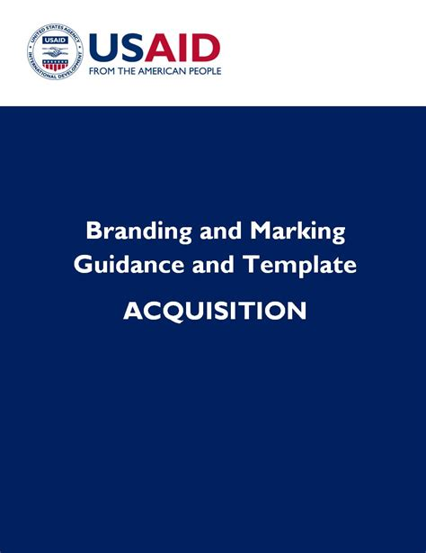 Acq Branding And Marking Guidance And Template U S Agency For International Development Usaid Branding And Marking Template