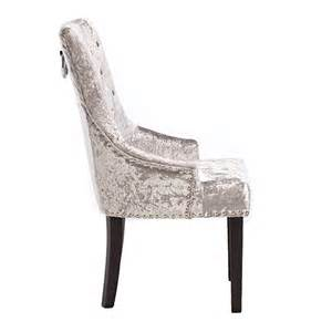Dining Room Arm Chair Melia Crushed Velvet Dining Chair Silver Dining Chairs